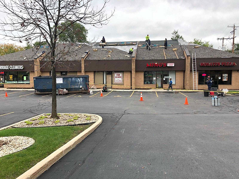 Wisconsin Roofing LLC | Brookfield | Commercial Roofs | CertainTeed Landmark PRO | Driftwood | Custom Metal Flashings