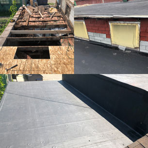 Wisconsin Roofing LLC | Case Study | Hugh Lomas | Low Slop Roof | Before During After
