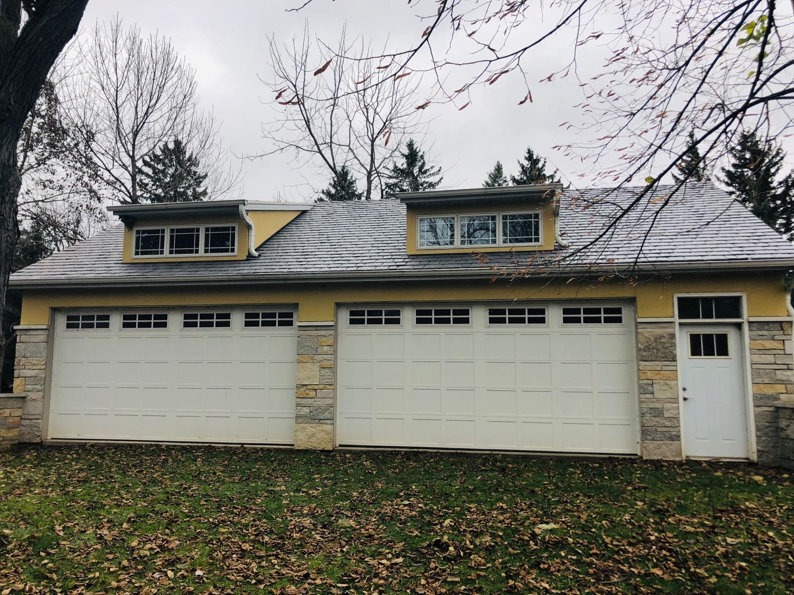 Wisconsin Roofing LLC | Residential | Composite Slate | Garage