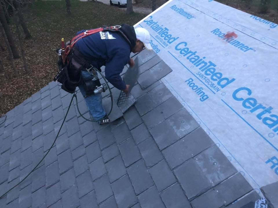 Wisconsin Roofing LLC | Residential | Composite Slate | In Process Top