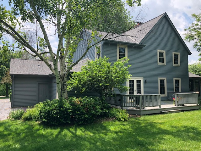 Wisconsin Roofing LLC | Brookfield | Residential | Landmark Driftwood | Upgraded ventilation and all new custom bent chimney flashing that was leaking prior back