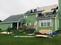 Wisconsin Roofing LLC | Sussex Safety First | Steep Roof | Fixed major leak issue around chimney