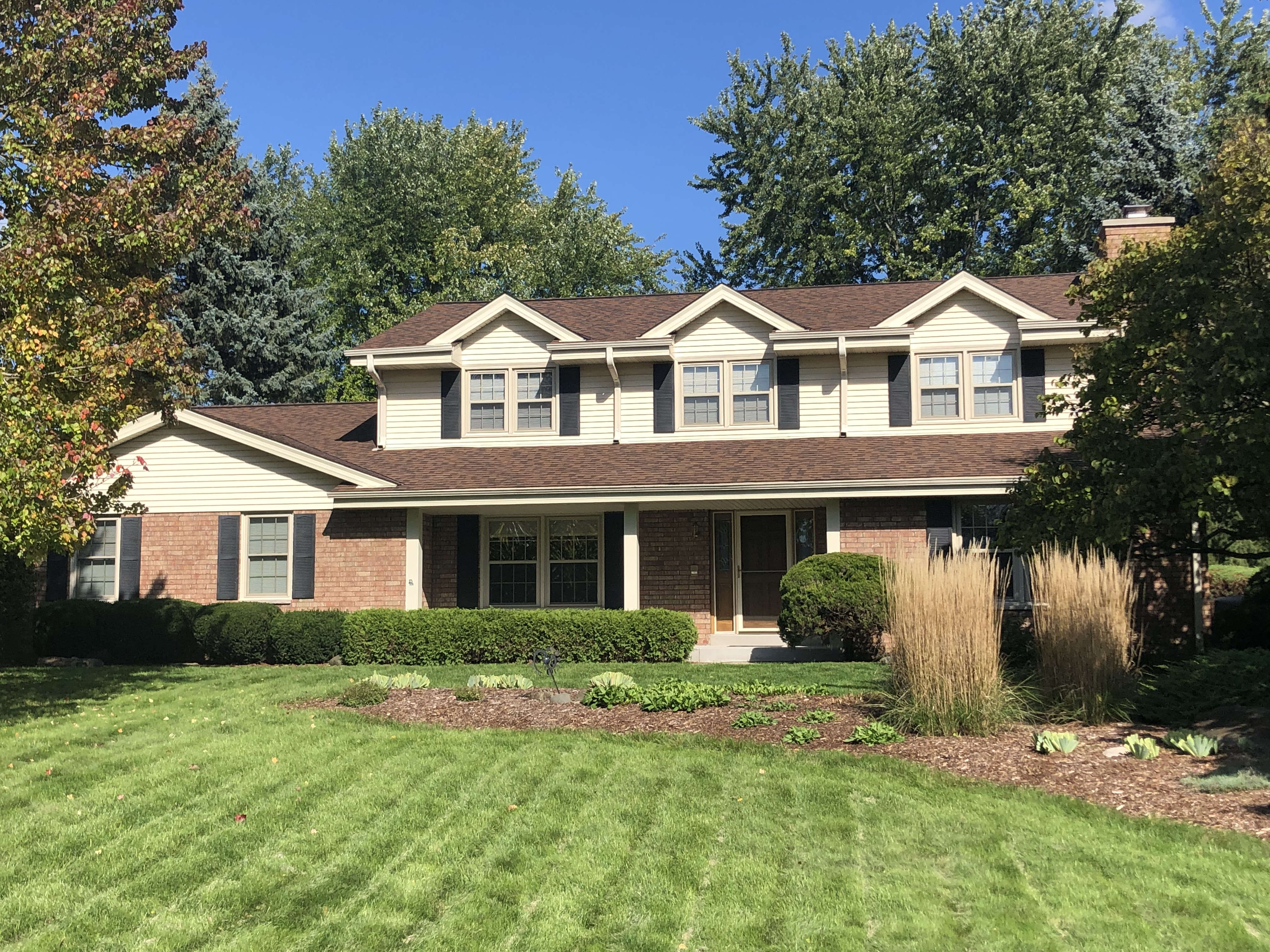 Wisconsin Roofing LLC | Brookfield | Upgraded Ventilation Unblocked Soffit Vents | Baffled Intake Chutes | CertainTeed Landmark Burnt Sienna Shingles | Front