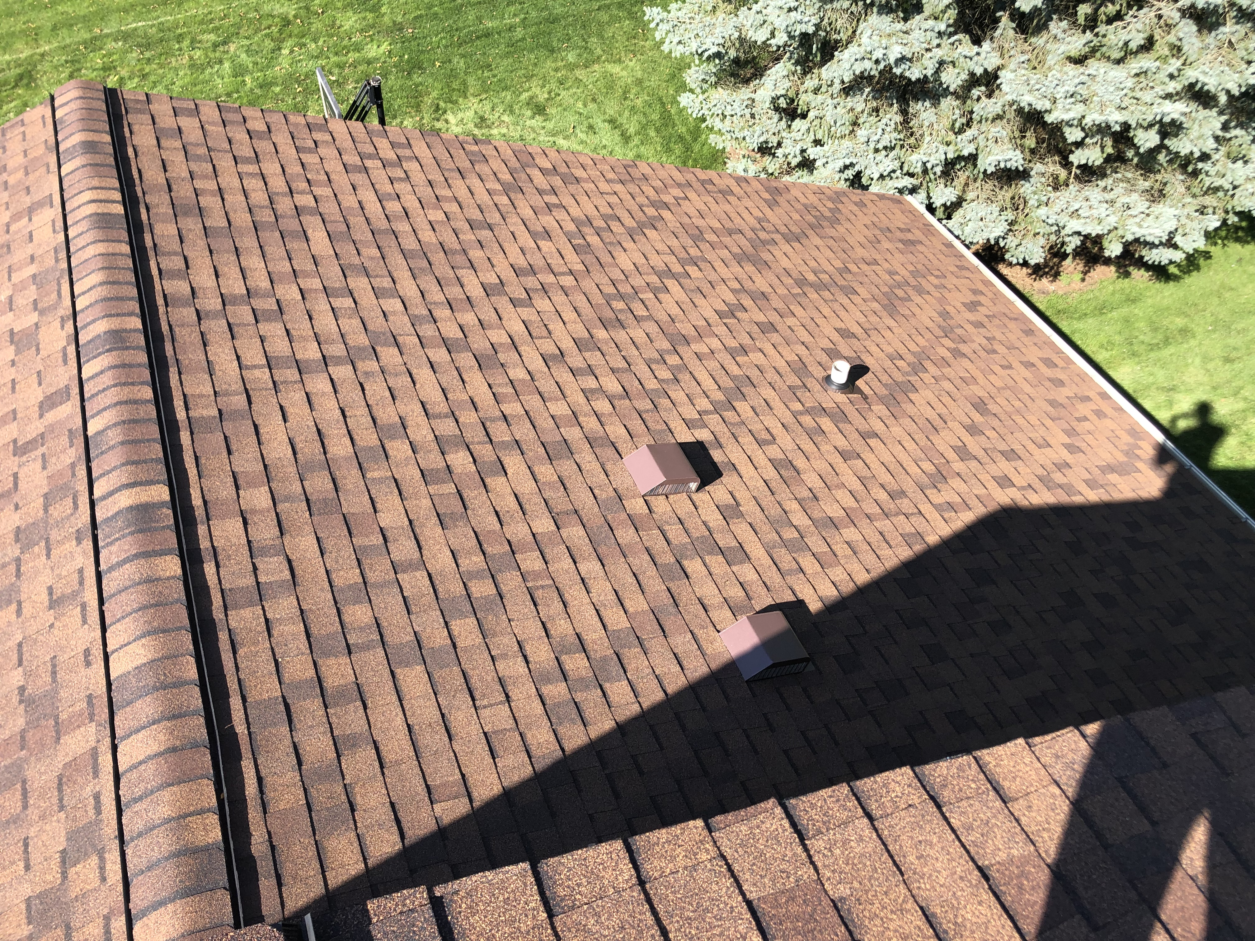 Wisconsin Roofing LLC | Brookfield | Upgraded Ventilation Unblocked Soffit Vents | Baffled Intake Chutes | CertainTeed Landmark Burnt Sienna Shingles | Vents