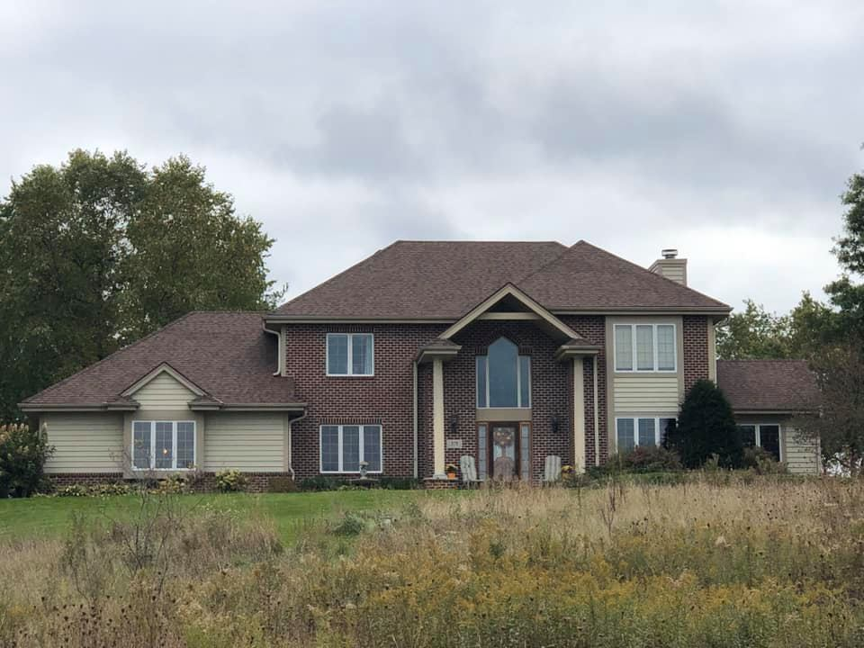 Wisconsin Roofing LLC | New Roof | Waukesha | Burnt Sienna | Upgraded Ventilation | Front View