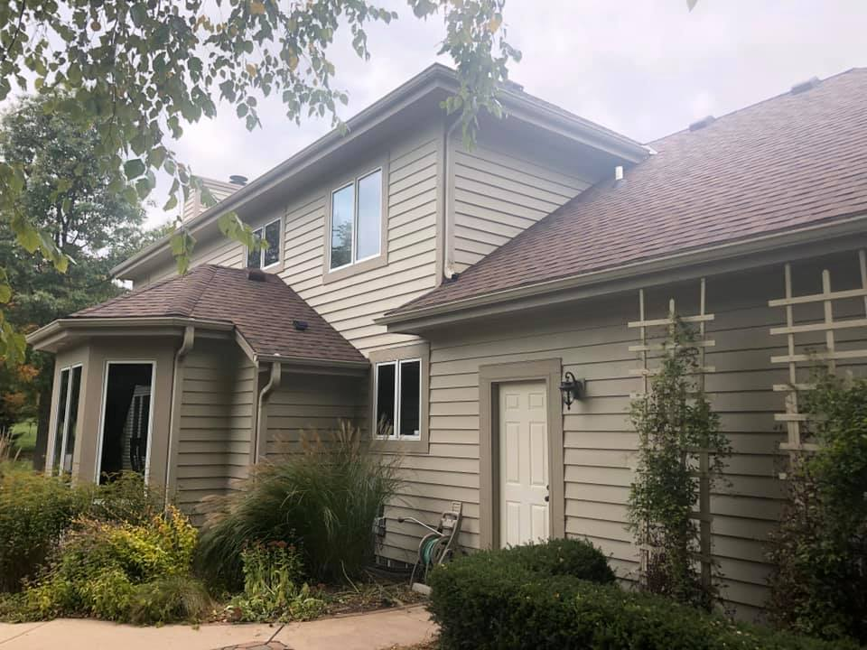 Wisconsin Roofing LLC | New Roof | Waukesha | Burnt Sienna | Upgraded Ventilation | Side View