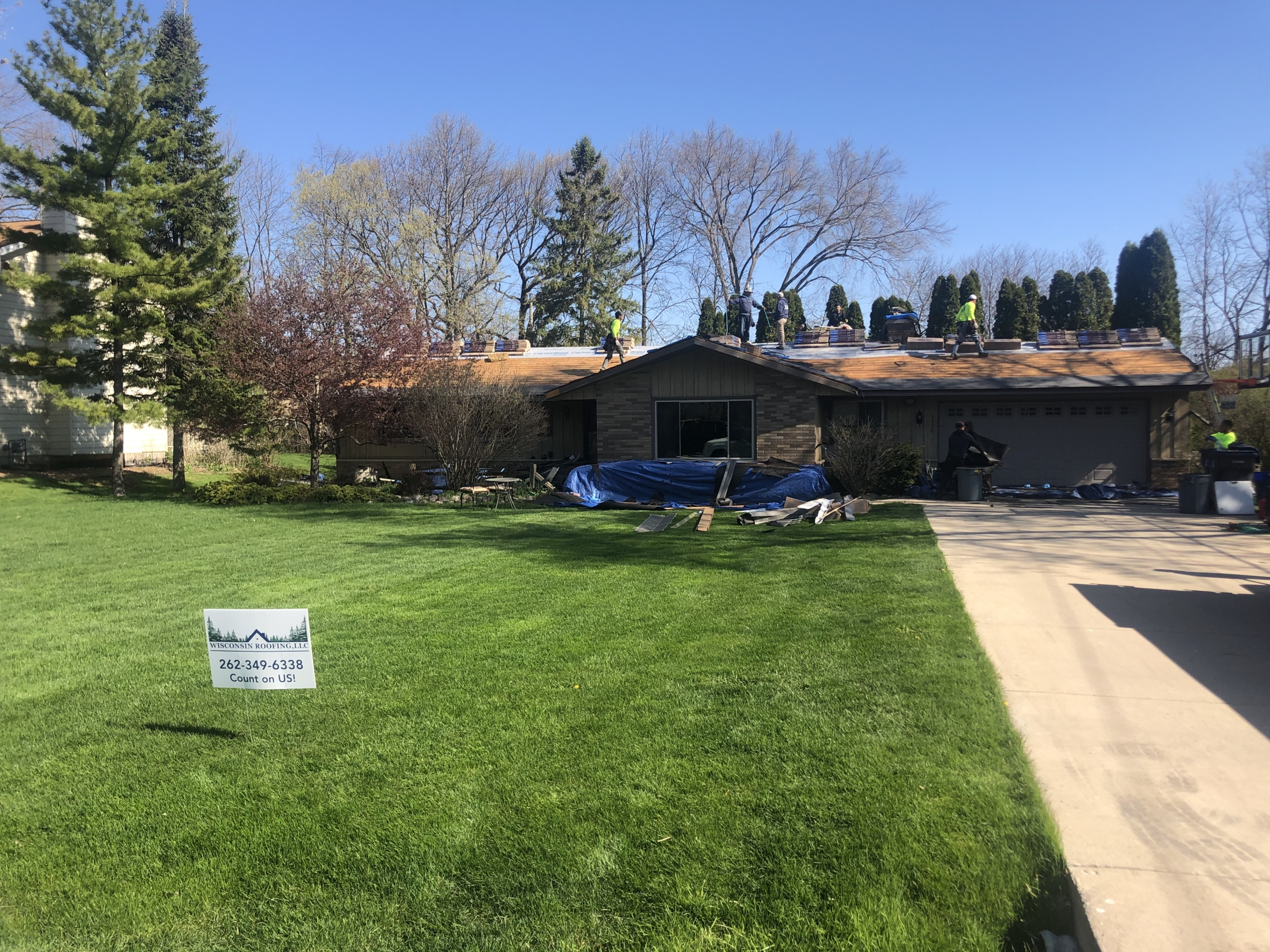 Wisconsin Roofing LLC | Residential | Elkhart Lake | Tear off roof job