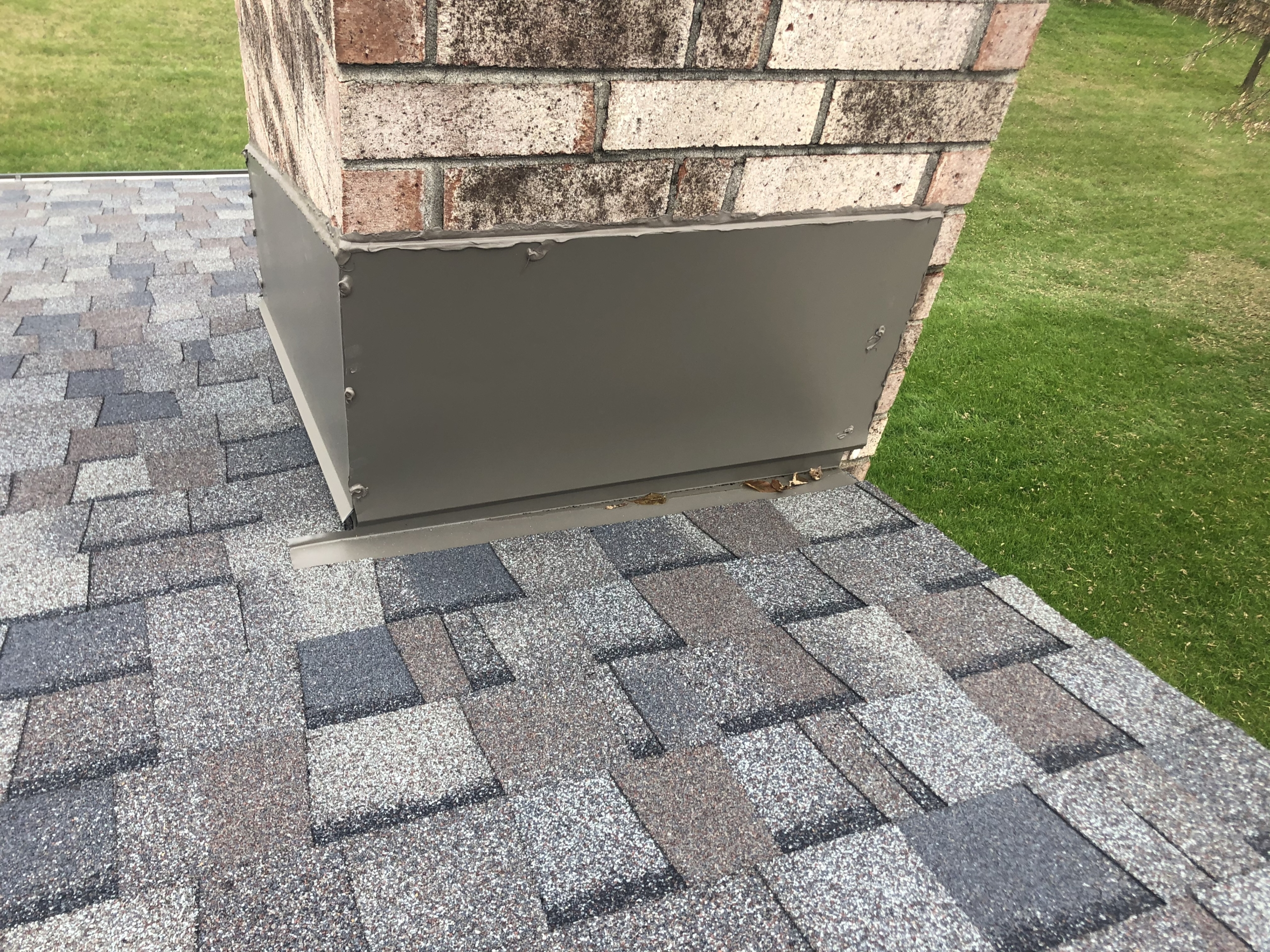 Wisconsin Roofing LLC | Residential | Mequon | Chimney diverter flashing