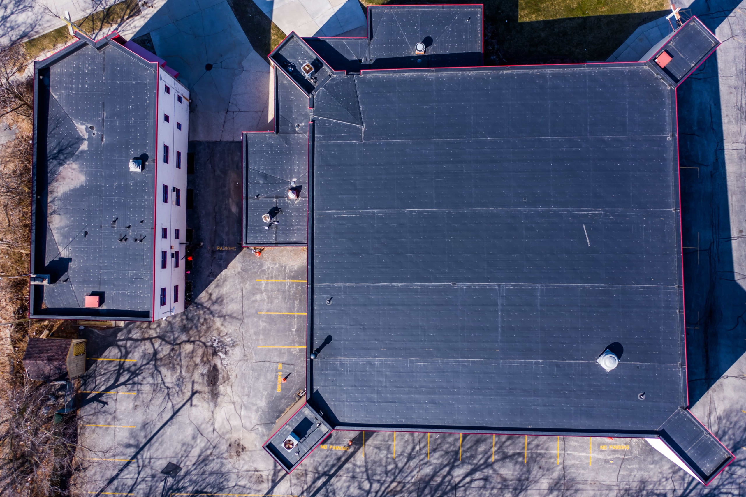 Wisconsin Roofing LLC | Drone | Commercial | Dual Buildings