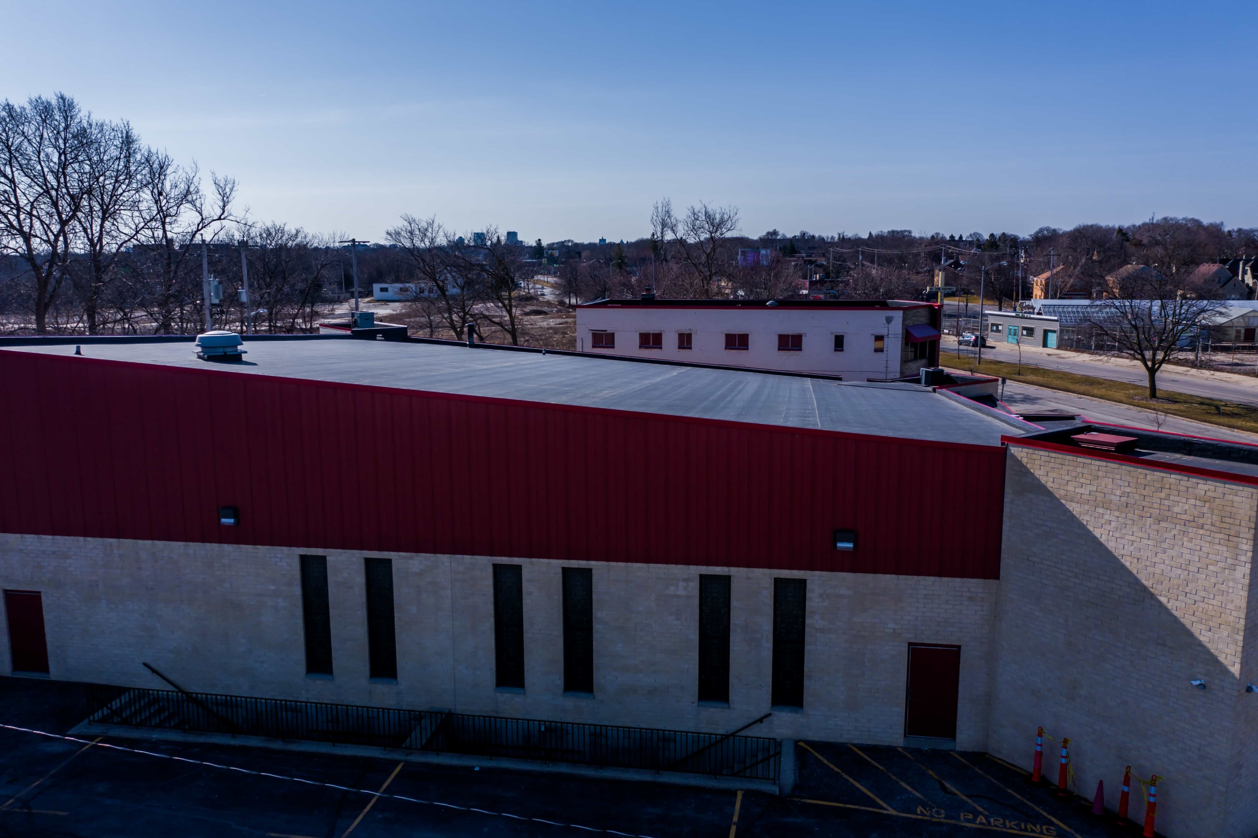 Wisconsin Roofing LLC | Drone | Commercial | Side