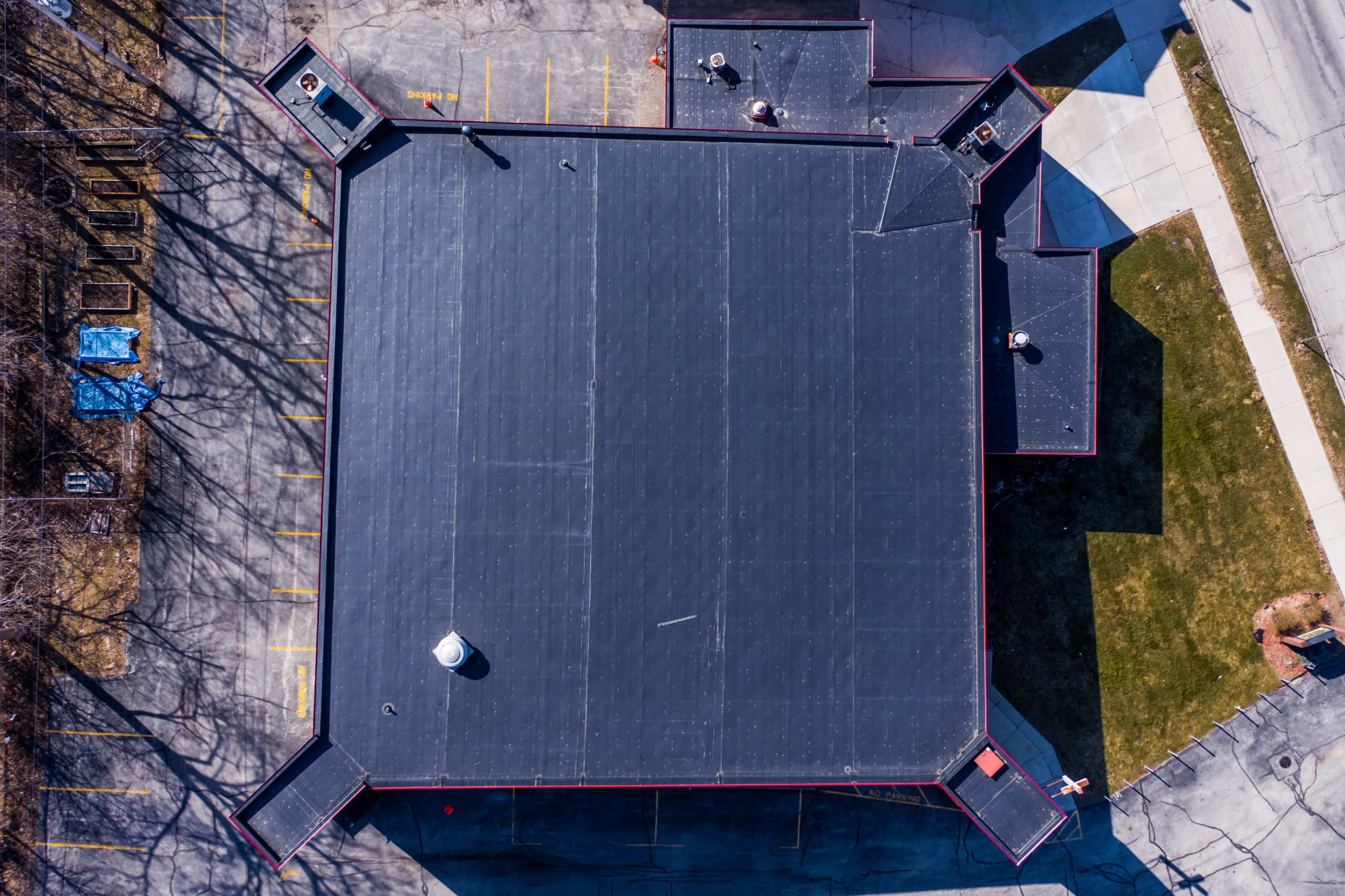 Wisconsin Roofing LLC | Drone | Commercial | Top Zoomed