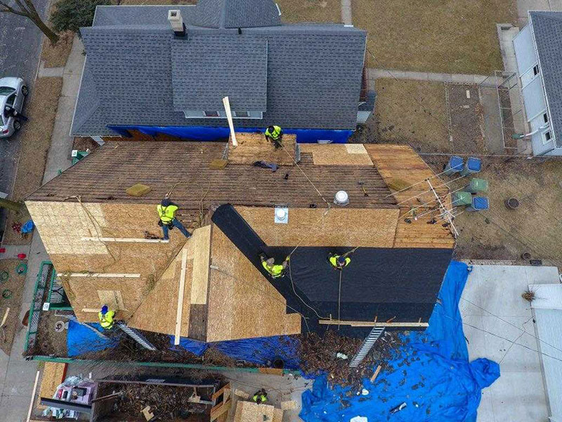 Wisconsin Roofing LLC | Drone | Residential | Wauwatosa | Certainteed PRO | Moire Black | In Process