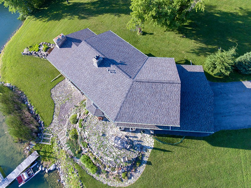 Wisconsin Roofing LLC | Drone | Residential | Germantown | Certainteed PRO | Weathered Wood