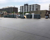 Wisconsin Roofing LLC | Milwaukee | Commercial Roofs | EPDM Rubber Roof ISO Insulation | Top View