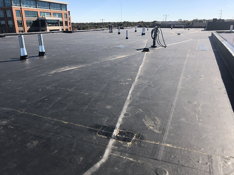 Wisconsin Roofing LLC | Madison | Commercial Roofs | EPDM Rubber Roof Tapered ISO Insulation
