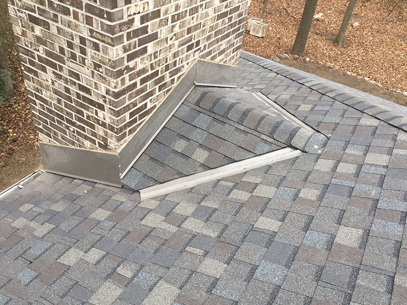 Wisconsin Roofing LLC | Residential | Mequon | Custom Chimney Diverter Flashing