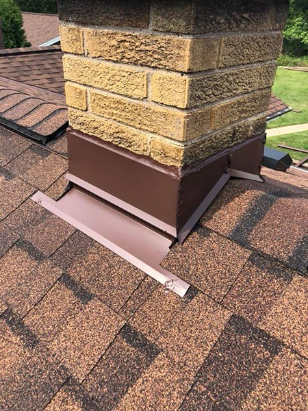 Wisconsin Roofing LLC | Residential | Brookfield | Custom Chimney Flashing