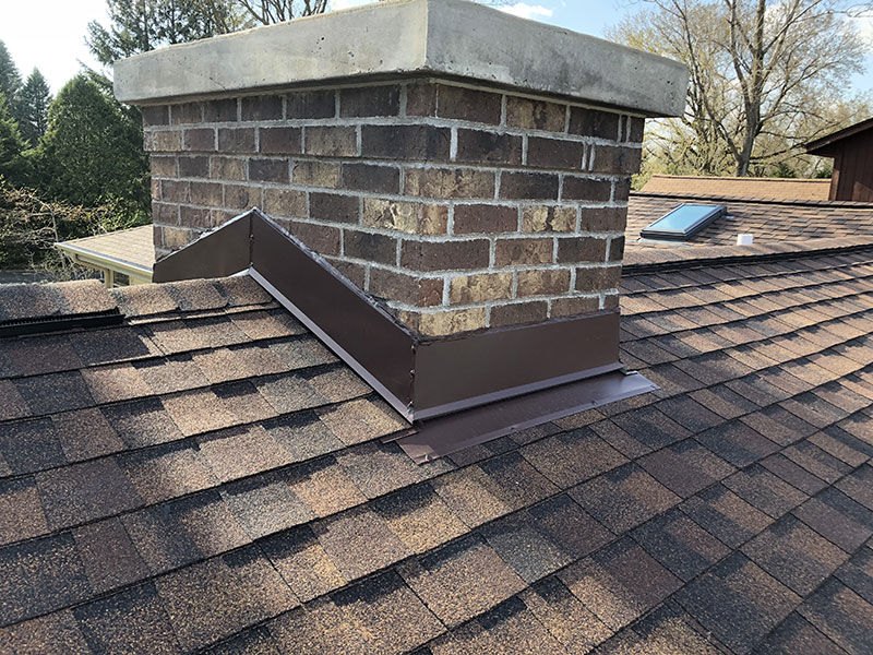 Wisconsin Roofing LLC | Residential | Fredonia | Custom Chimney Flashing