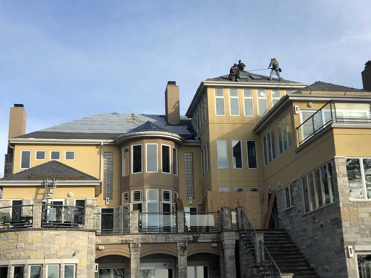 Wisconsin Roofing LLC | Residential | Composite Slate | In Process