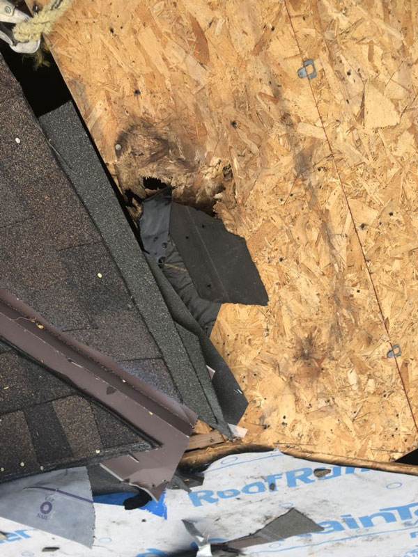 Before Damage Hole Roof