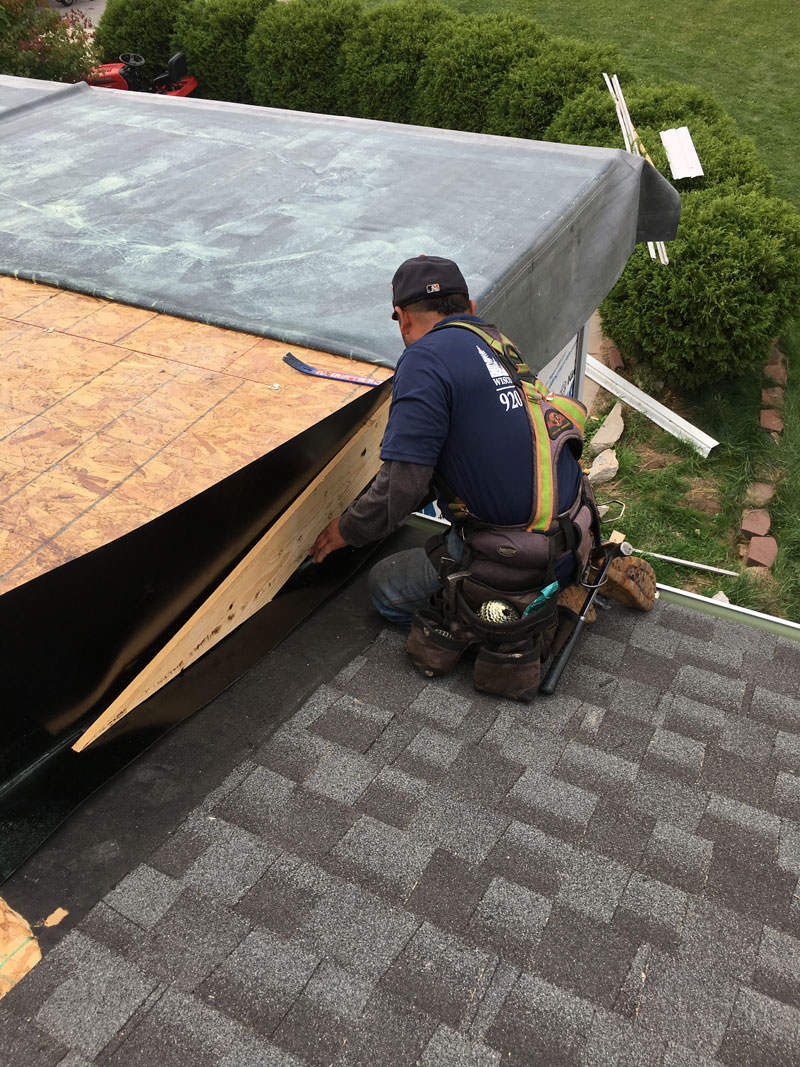 Wisconsin Roofing LLC | Flat Decks | Residential | In Process