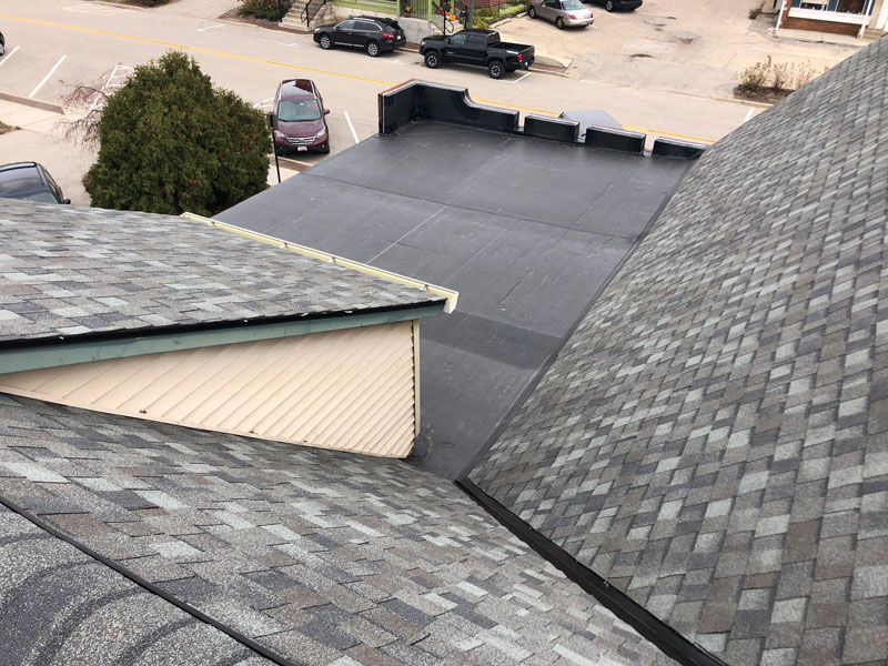 Wisconsin Roofing LLC | Flat Decks | Residential | Finished Side View