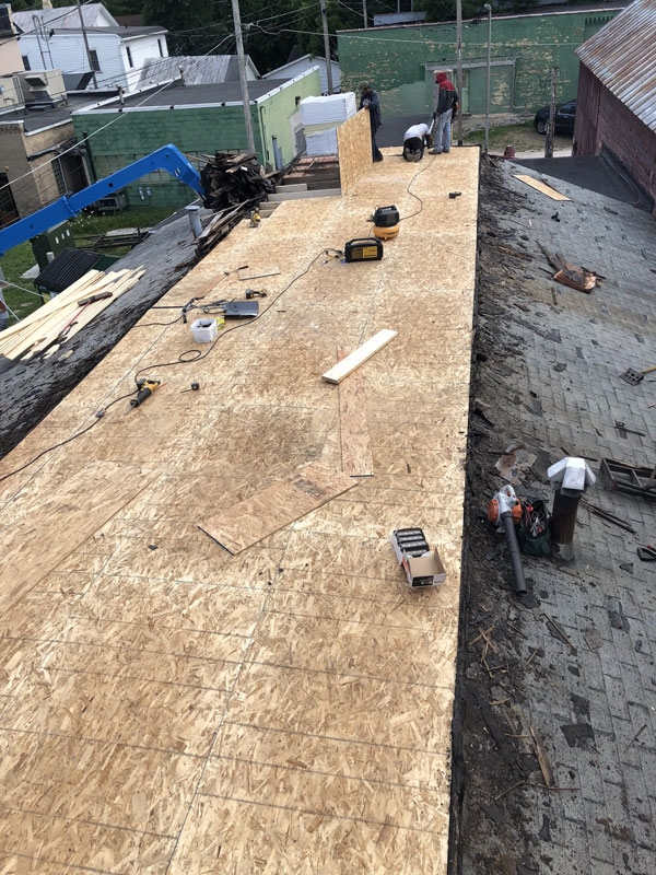 Wisconsin Roofing LLC | Case Study | Hugh Lomas | During Tear Out