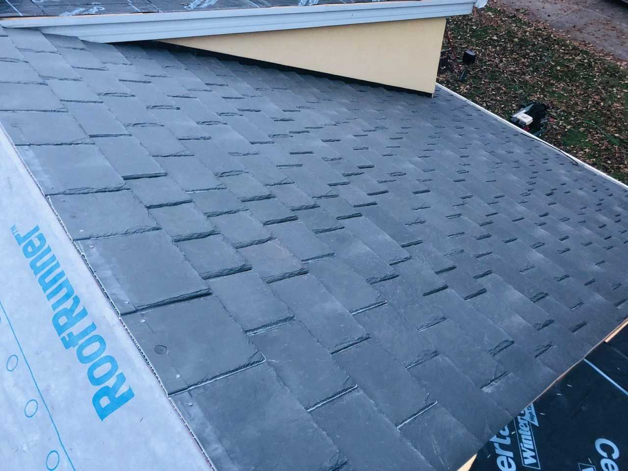 Wisconsin Roofing LLC | Residential | Composite Slate | Sideview