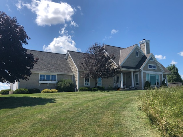 Wisconsin Roofing LLC | Belgium | Residential | Landmark Weathered Wood | very large difficult roof with lots of transitions