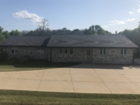 Wisconsin Roofing LLC | Germantown | CertainTeed Landmark PRO Weathered Wood | New seamless storm gutters | New Luxury Cedar Discovery Shake Rustic Front