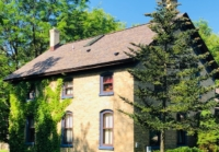 Wisconsin Roofing LLC | Hartford | Residential | Designer Summer Harvest | Old farmhouse 1900's with designer shingles | Very old style framing fixed side view