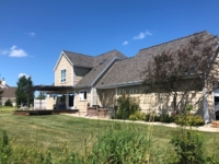Wisconsin Roofing LLC | Belgium | Residential | Landmark Weathered Wood | Very large difficult roof with lots of transitions | garage