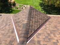 Wisconsin Roofing LLC | Brookfield | Upgraded Ventilation Unblocked Soffit Vents | Baffled Intake Chutes | CertainTeed Landmark Burnt Sienna Shingles | Bump Out