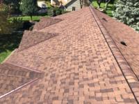 Wisconsin Roofing LLC | Brookfield | Upgraded Ventilation Unblocked Soffit Vents | Baffled Intake Chutes | CertainTeed Landmark Burnt Sienna Shingles | Ridge