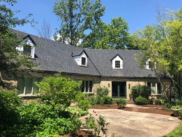 New RAINDROP gutter guard leaf protection | New CT PRO shingle | Moire Black