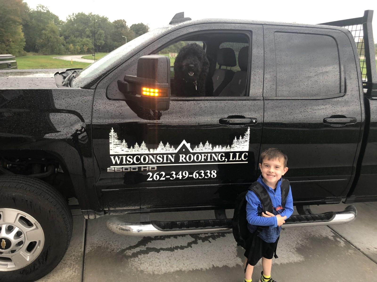 Wisconsin Roofing LLC Family Life Kids Trucks Dogs