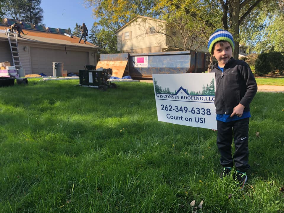 Wisconsin Roofing LLC | Family Life | New Roof | Job Site