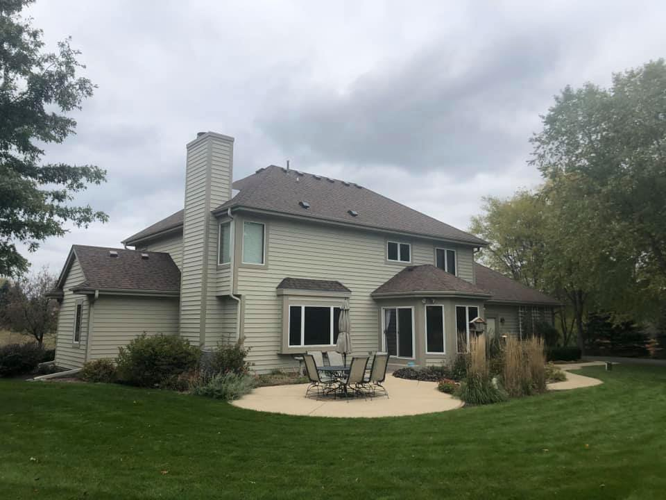 Wisconsin Roofing LLC | New Roof | Waukesha | Burnt Sienna | Upgraded Ventilation | Back View