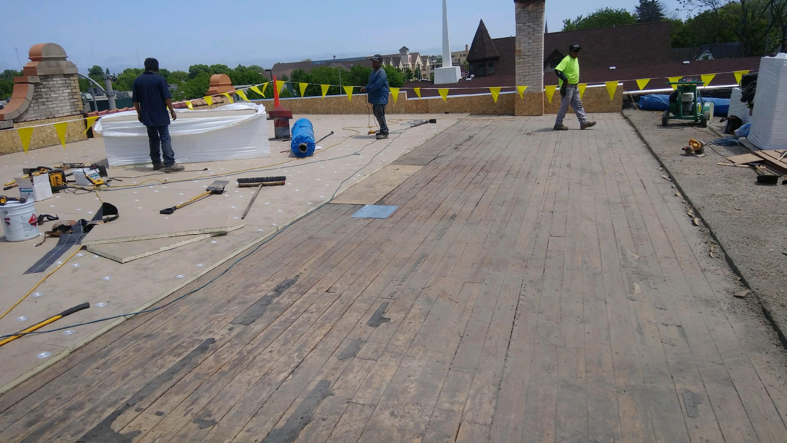 Wisconsin Roofing LLC | Commercial | Flat Roof | In Progress | Milwaukee