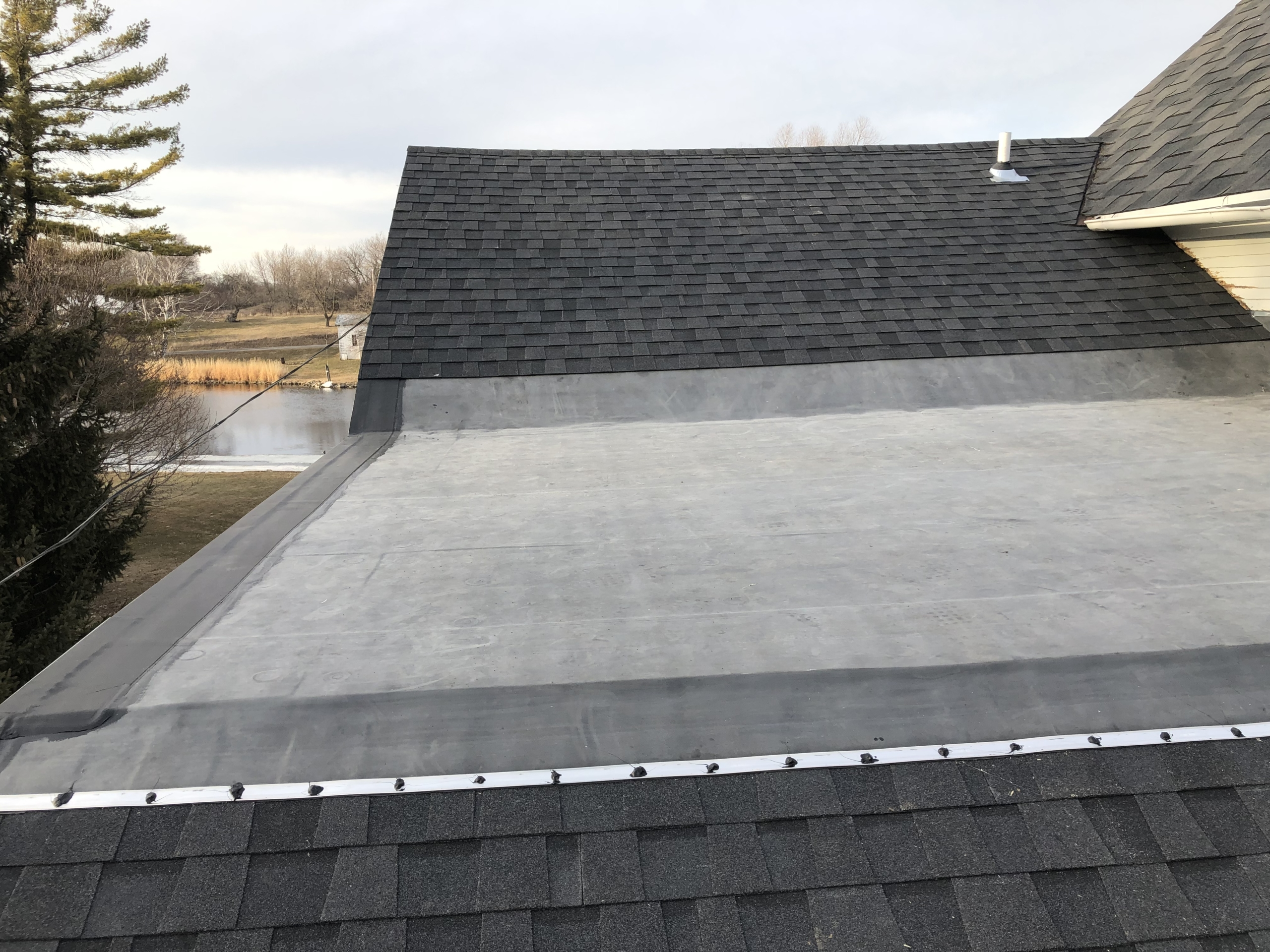 Wisconsin Roofing LLC | Kiel WI | CertainTeed Shingle Moire Black | 60 Mil EPDM | Johns Mansville | Rubber | Re-roof