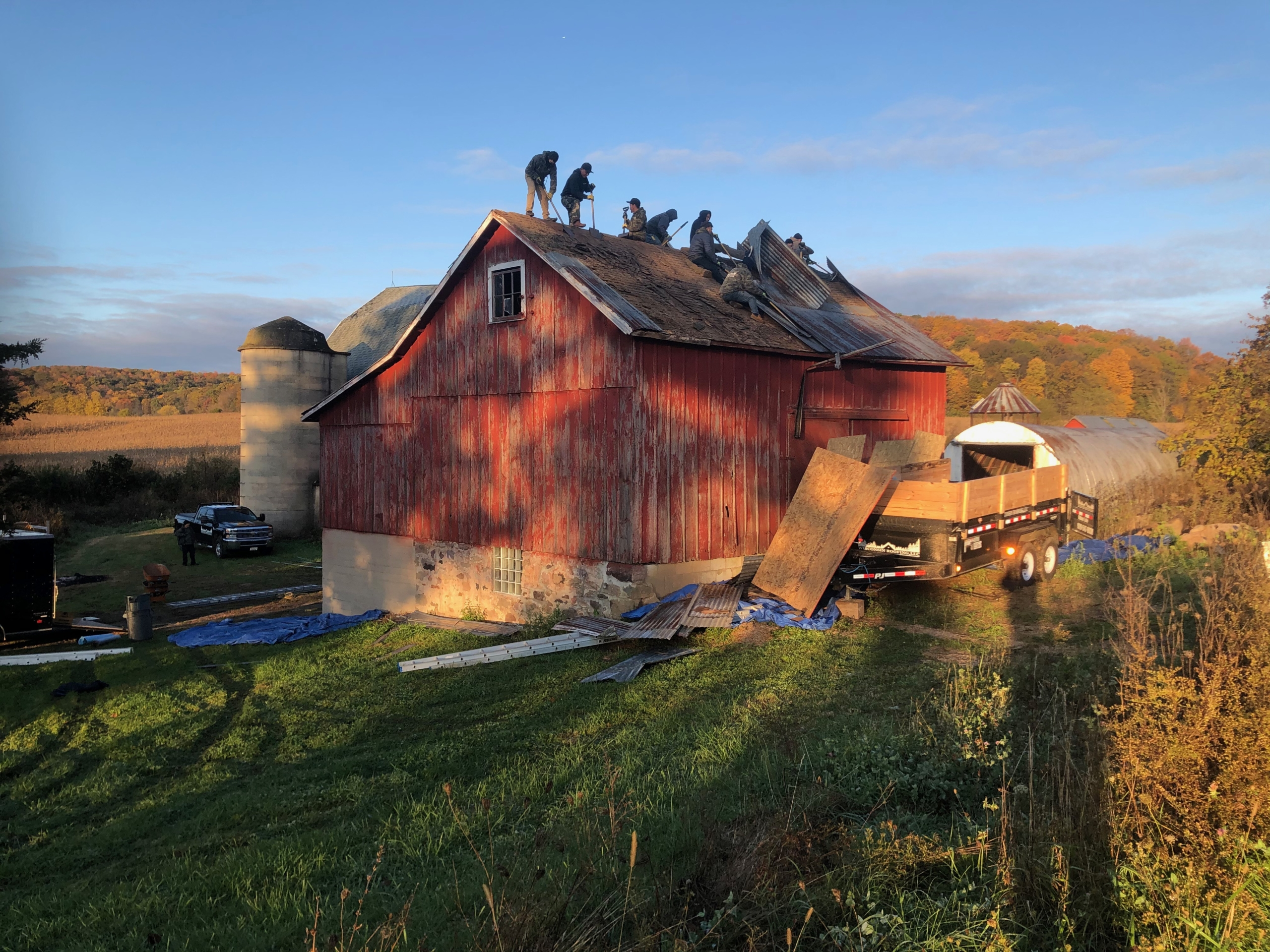 Wisconsin Roofing LLC | Residential | Kohler | Metal standing seam roof | Tear off