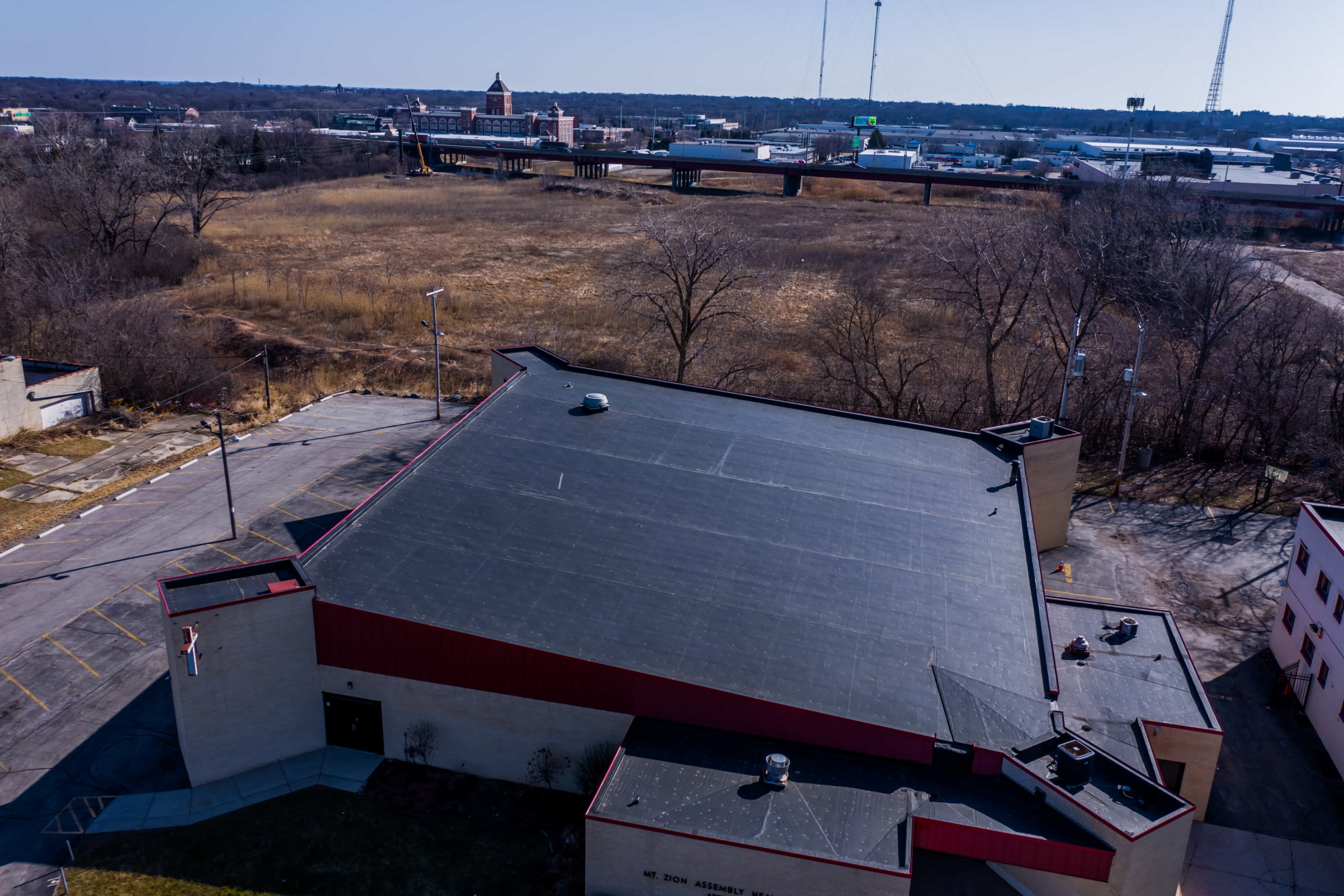 Wisconsin Roofing LLC | Drone | Commercial | Side Distance