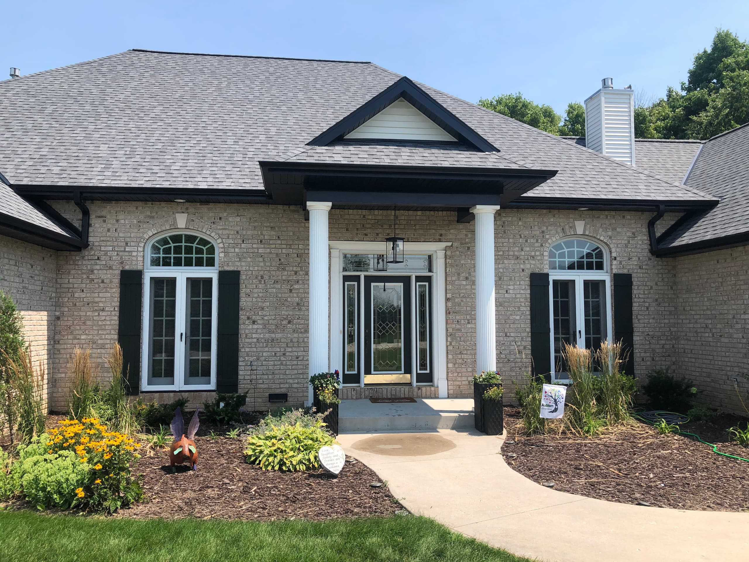 Wisconsin Roofing LLC | Plymouth | CertainTeed Landmark Pewter | Custom fabricated entry way