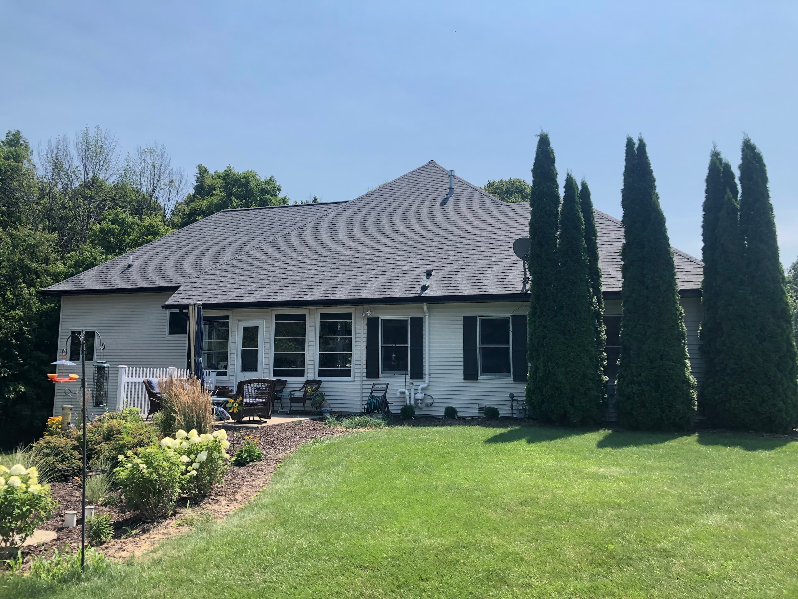 Wisconsin Roofing LLC | Plymouth | CertainTeed Landmark Pewter | New roof and venting